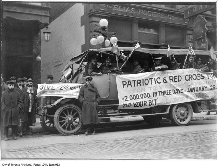 Fundraising for Patriotic and Red Cross Fund, Bay Street. - 1915