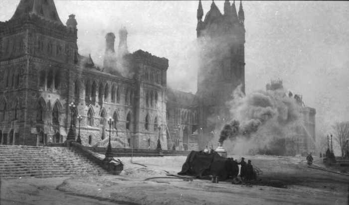 Fire - Parliament Buildings - Ottawa, February 4, 1916.