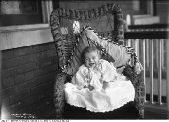 Baby Ina Bowman - 38 Bathgate Avenue (Toronto Archive Fonds 200, Series 372, Subseries 32, Item 406)