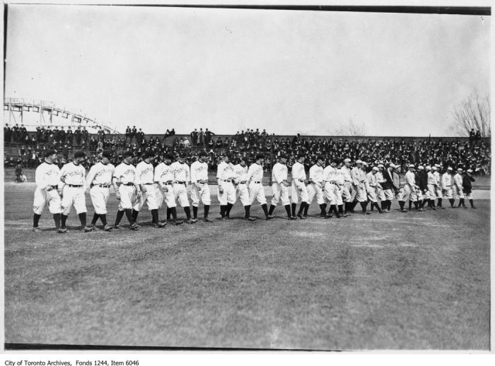 Toronto baseball team, Hanlan's Point Stadium. - [ca. 1910]