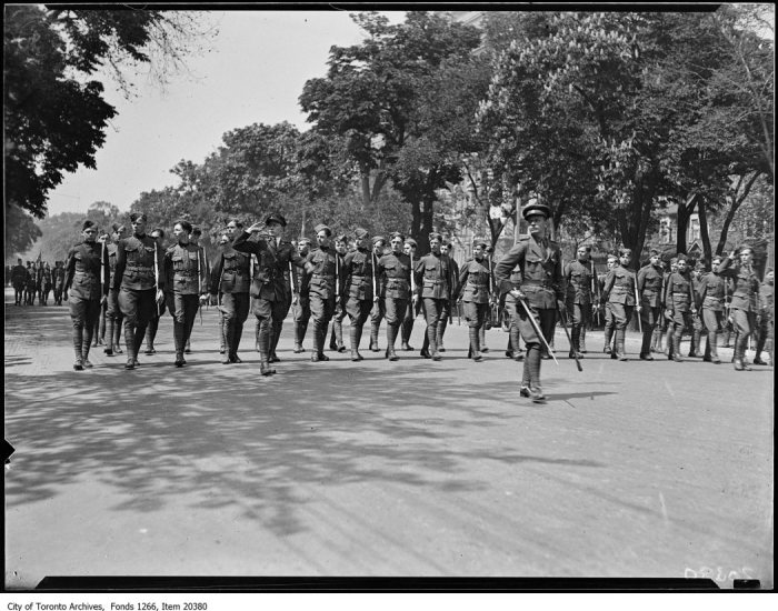 Empire Day, Jarvis Collegiate cadets at saluting base. - May 23, 1930