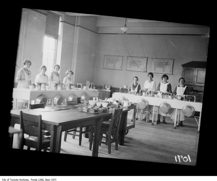 Central Technical School, view of cooking class. - July 11, 1923