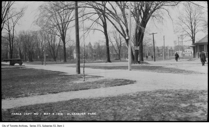 Alexandra Park : used walks and shortcuts. - May 2, 1912