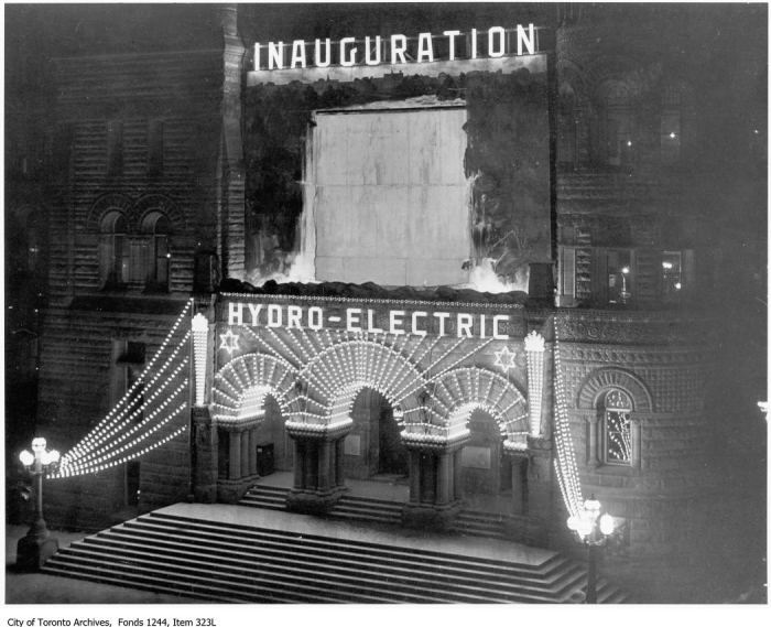 Inauguration of  hydro-electric power in Toronto, City Hall. - May 2, 1911