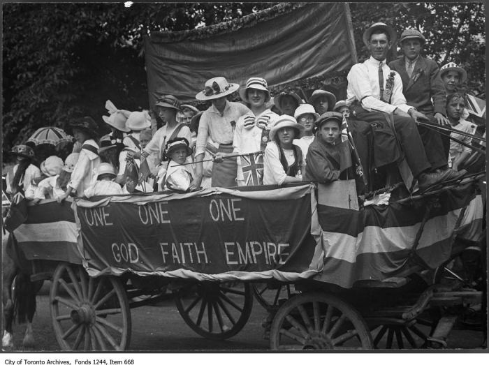 Parade float of Juvenile Orange Lodge Branch 31. - [ca. 1919]
