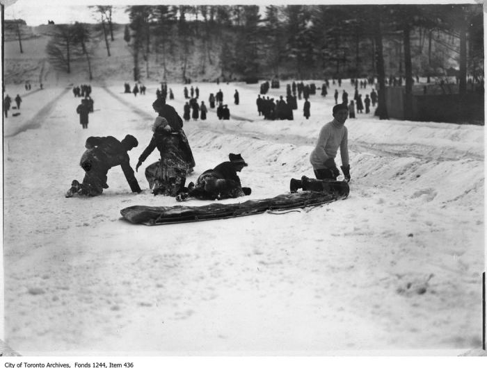 High Park toboggan runs. - [between 1906 and 1910]