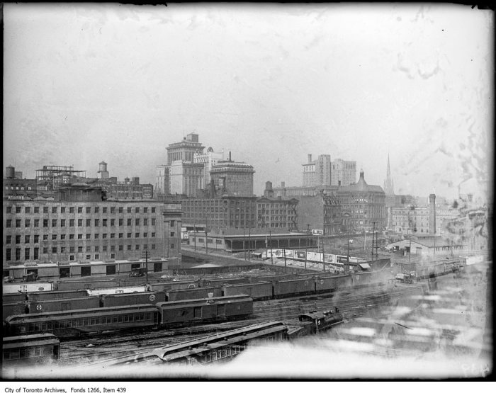 Skyline from waterfront. - April 5, 1923